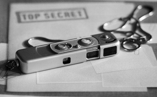 top secret - micro fotocamera